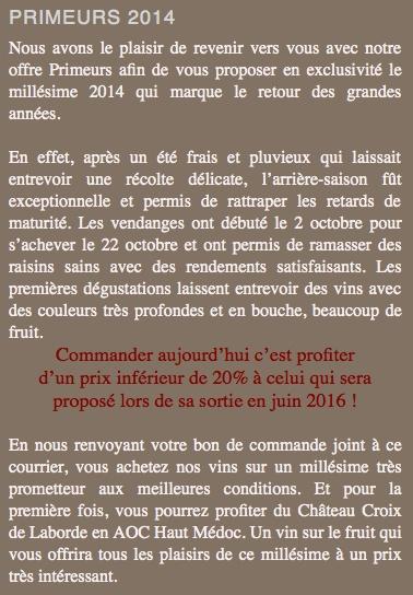 Primeurs 2014 Vignobles Thomas Bons plans Reverd11