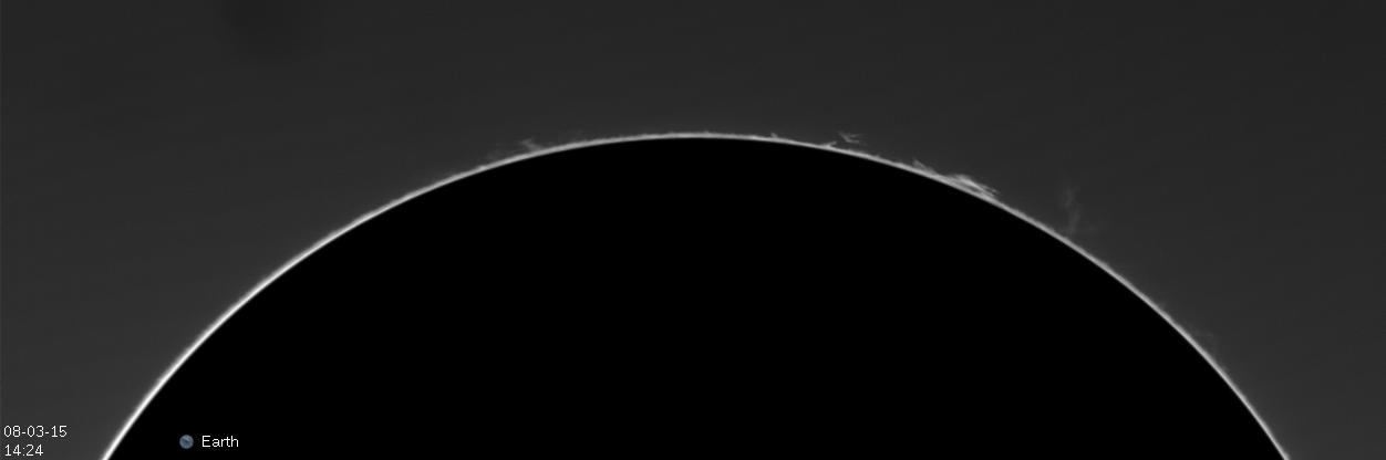 Soleil et protubérances du 7 Mars 2015 a la Lunt 60 14h2410