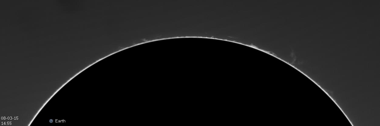 Soleil et protubérances du 7 Mars 2015 a la Lunt 60 14h5510