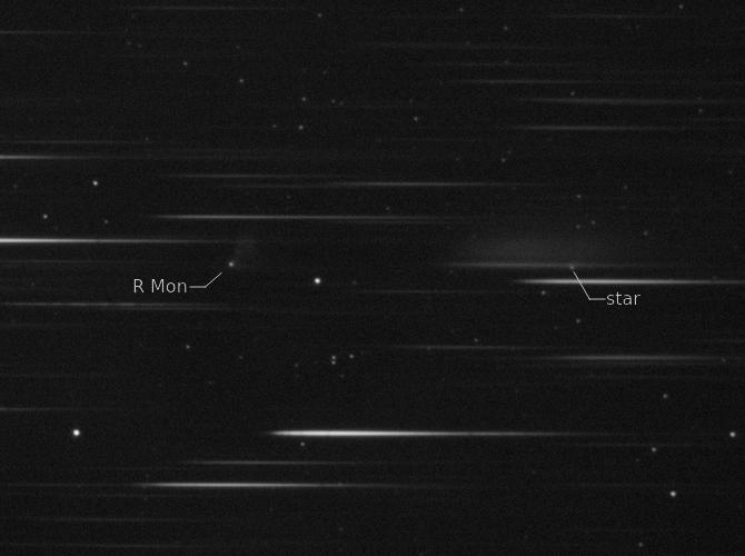 La nébuleuse variable de Hubble et son bébé étoile R Mon Spectr10