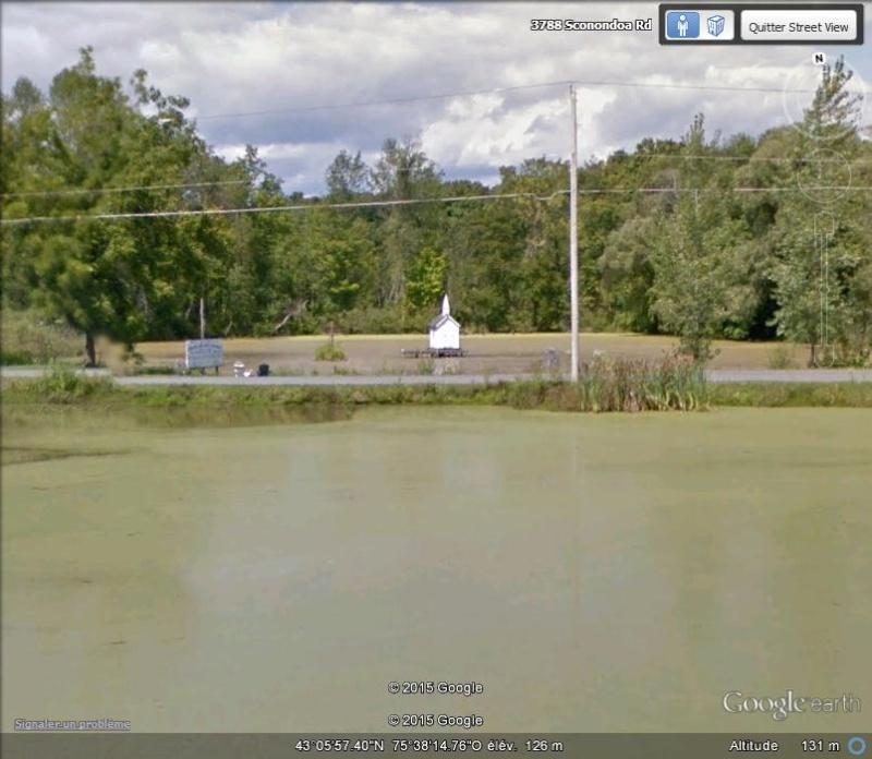 Cross Island Chapel, la plus petite église du monde - Oneida - USA Aa15