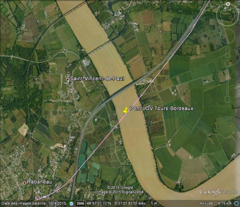 [Désormais visible sur Google-Earth] Pont sur la Dordogne de la LGV Tours-Bordeaux - Gironde - France Ge_lgv10
