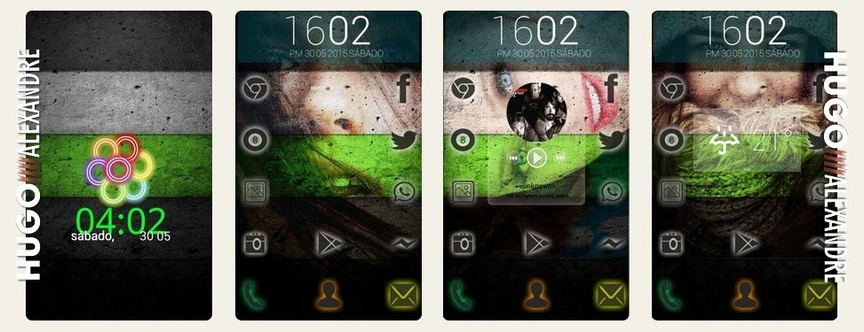 Temas para Android (HomePack Buzz) Garota11