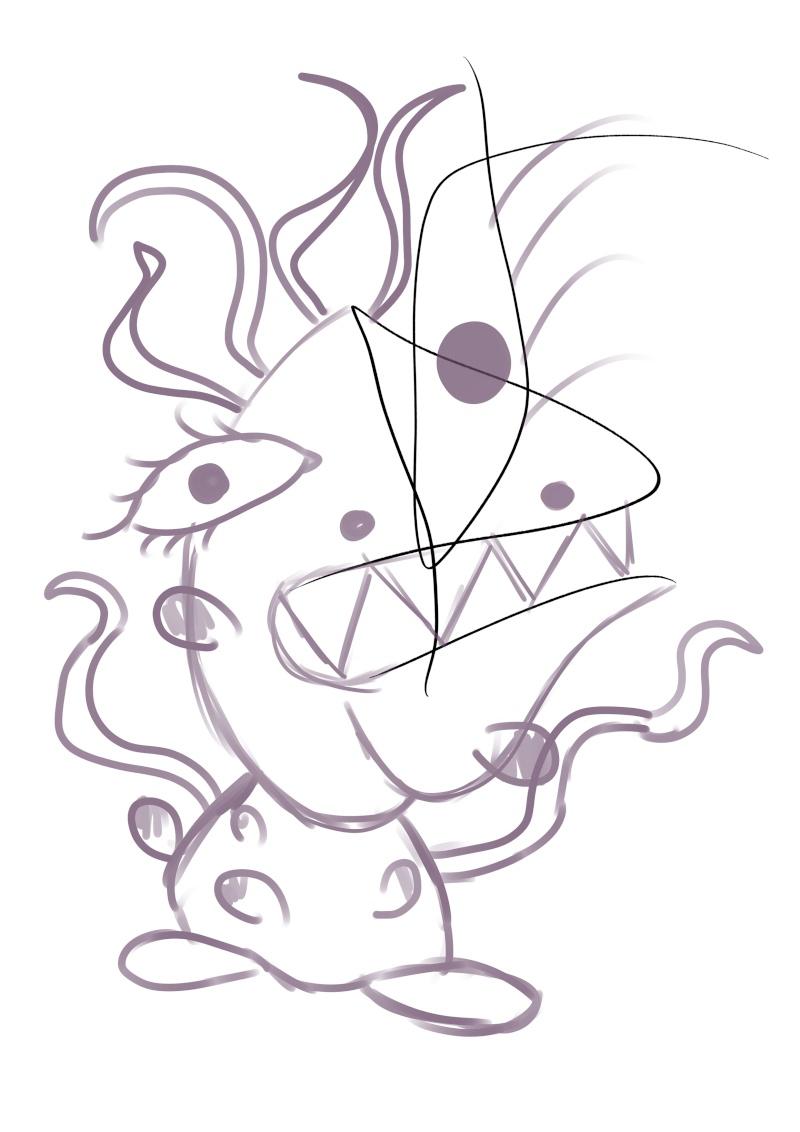"Défi n°6 ""Improv drawing"" Traits10"