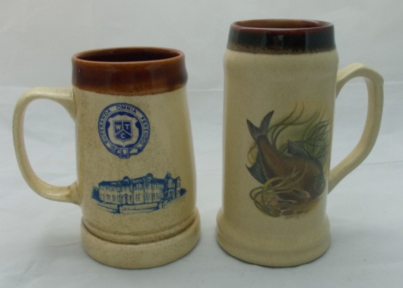 Who made this beige tankard with fish picture?  Dscn6923