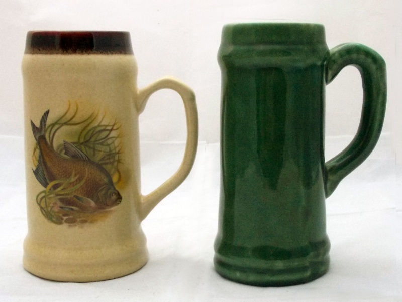 Who made this beige tankard with fish picture?  Dscn7010