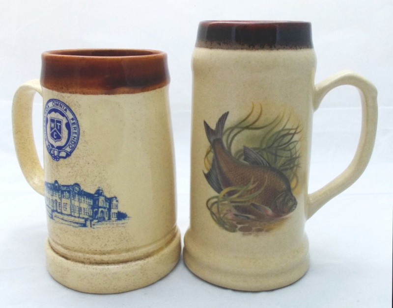 Who made this beige tankard with fish picture?  Dscn7011