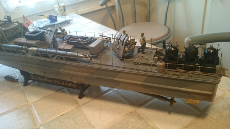 schnellboot s-100 ITALERI 1/35 transformable RC - Page 5 Mms_2016