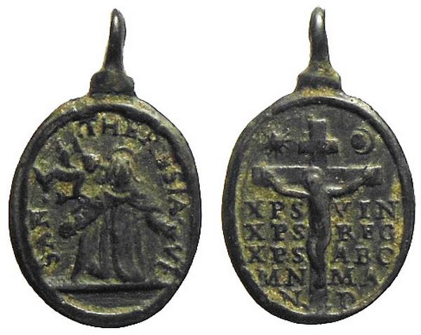 Recopilación medallas Orden Carmelitas Descalzas: Santa Teresa de Jesús 00_ave10