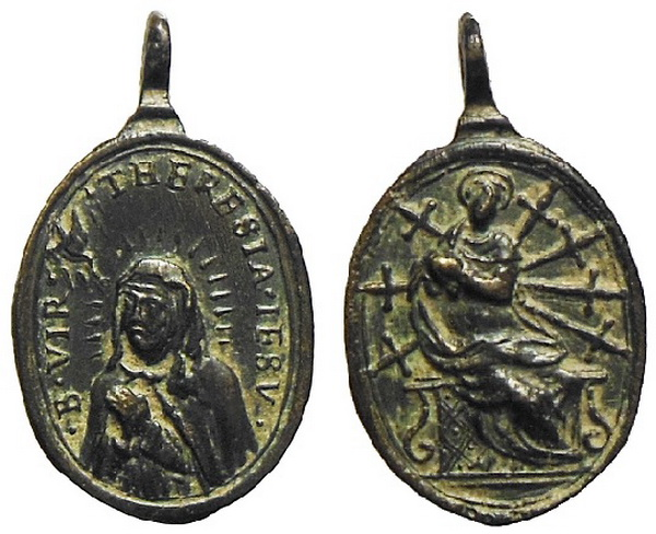 Recopilación medallas Orden Carmelitas Descalzas: Santa Teresa de Jesús 01_0_a10