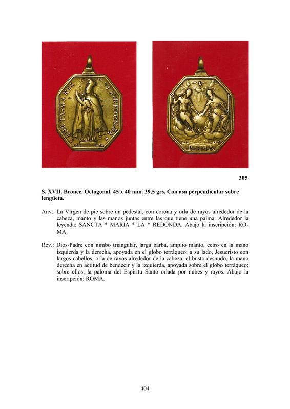 LA MEDALLA DE DEVOCIÓN EN EUROPA ENTRE LOS SIGLOS XVI Y XIX  por  Fernando Sainz Varona - Página 17 40410