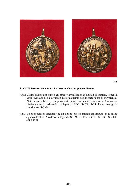 LA MEDALLA DE DEVOCIÓN EN EUROPA ENTRE LOS SIGLOS XVI Y XIX  por  Fernando Sainz Varona - Página 17 41110