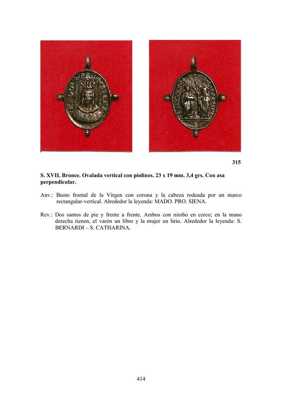 LA MEDALLA DE DEVOCIÓN EN EUROPA ENTRE LOS SIGLOS XVI Y XIX  por  Fernando Sainz Varona - Página 17 41410