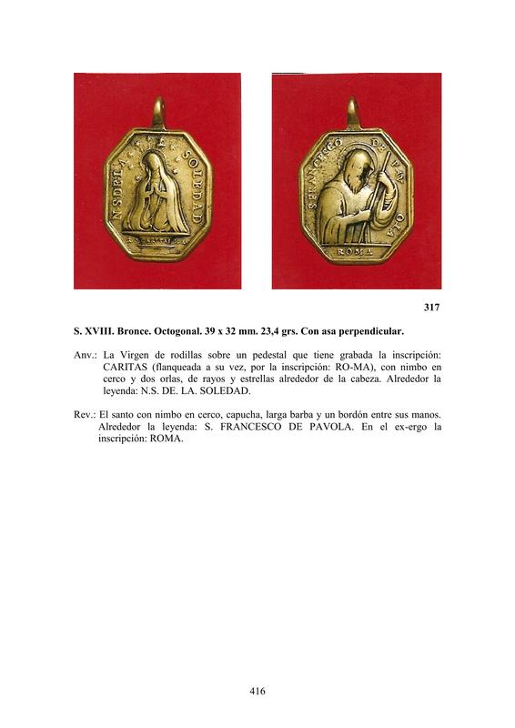 LA MEDALLA DE DEVOCIÓN EN EUROPA ENTRE LOS SIGLOS XVI Y XIX  por  Fernando Sainz Varona - Página 17 41610