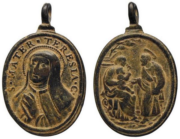 Recopilación medallas Orden Carmelitas Descalzas: Santa Teresa de Jesús Avelin10