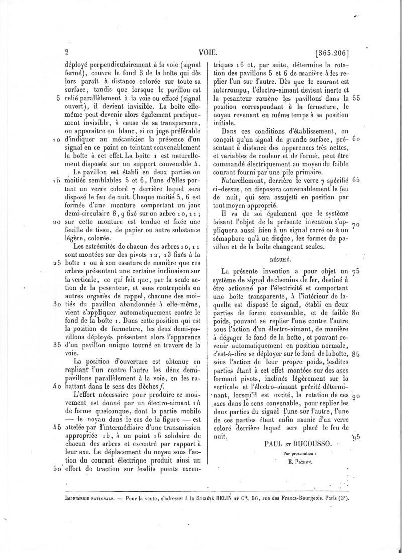 L'invention d'un signal du Midi Brevet12