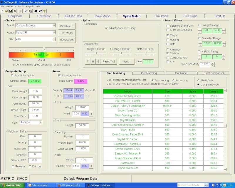 """OT2 """"pour les nuls"""", tutoriel du logiciel On Target 2 (SFA) - Page 8 Recurv10"""