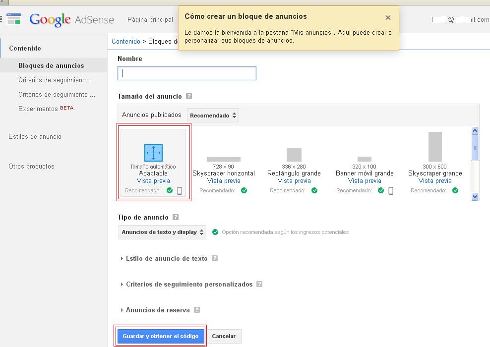 Publiciad Adsense en dispositivos móviles y multipantalla Tuto_a12