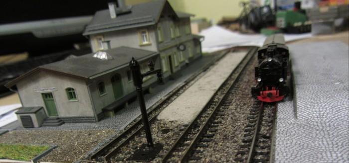 Bahnhofs-Diorama Radeburg 1:160 Forum-12