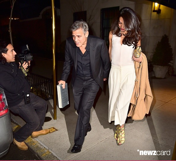 George Clooney & Amal seen in New York City on March 27 Bb10