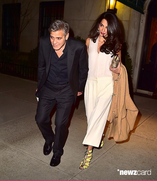 George Clooney & Amal seen in New York City on March 27 Bb410
