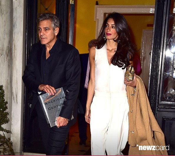 George Clooney & Amal seen in New York City on March 27 Bb510