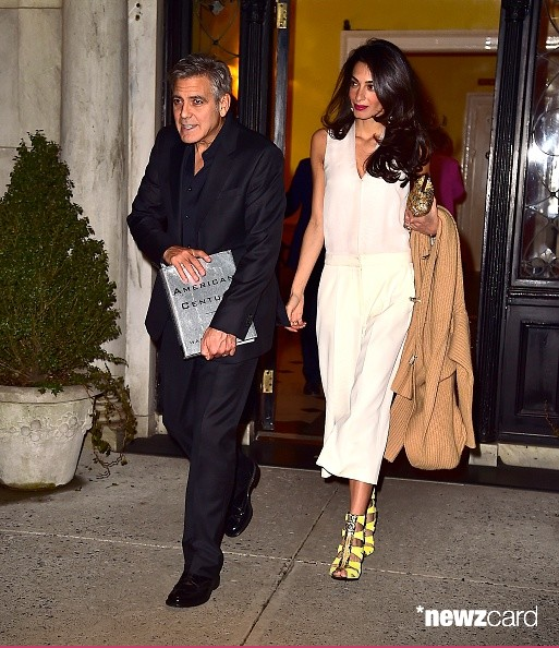 George Clooney & Amal seen in New York City on March 27 Bb610