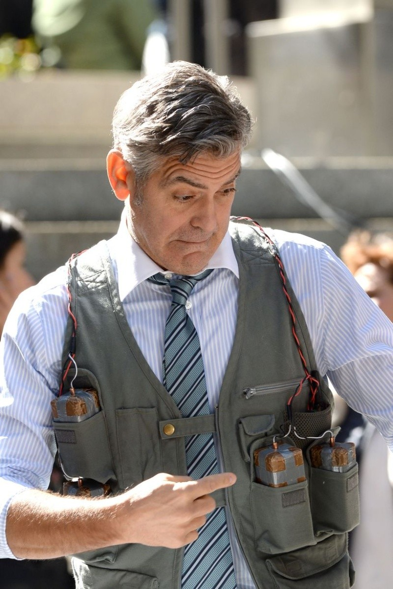George Clooney on Money Monster Set April 10th & 11th  2015 Bo11