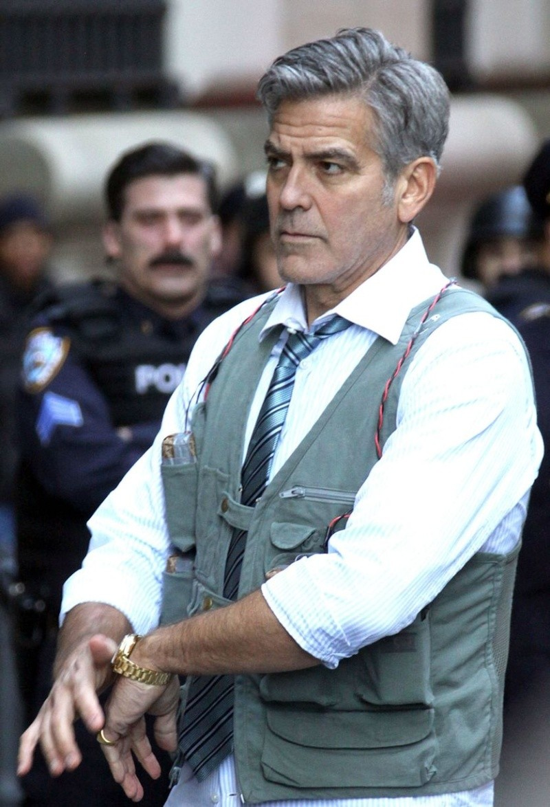 George Clooney on Money Monster Set April 10th & 11th  2015 Bo210