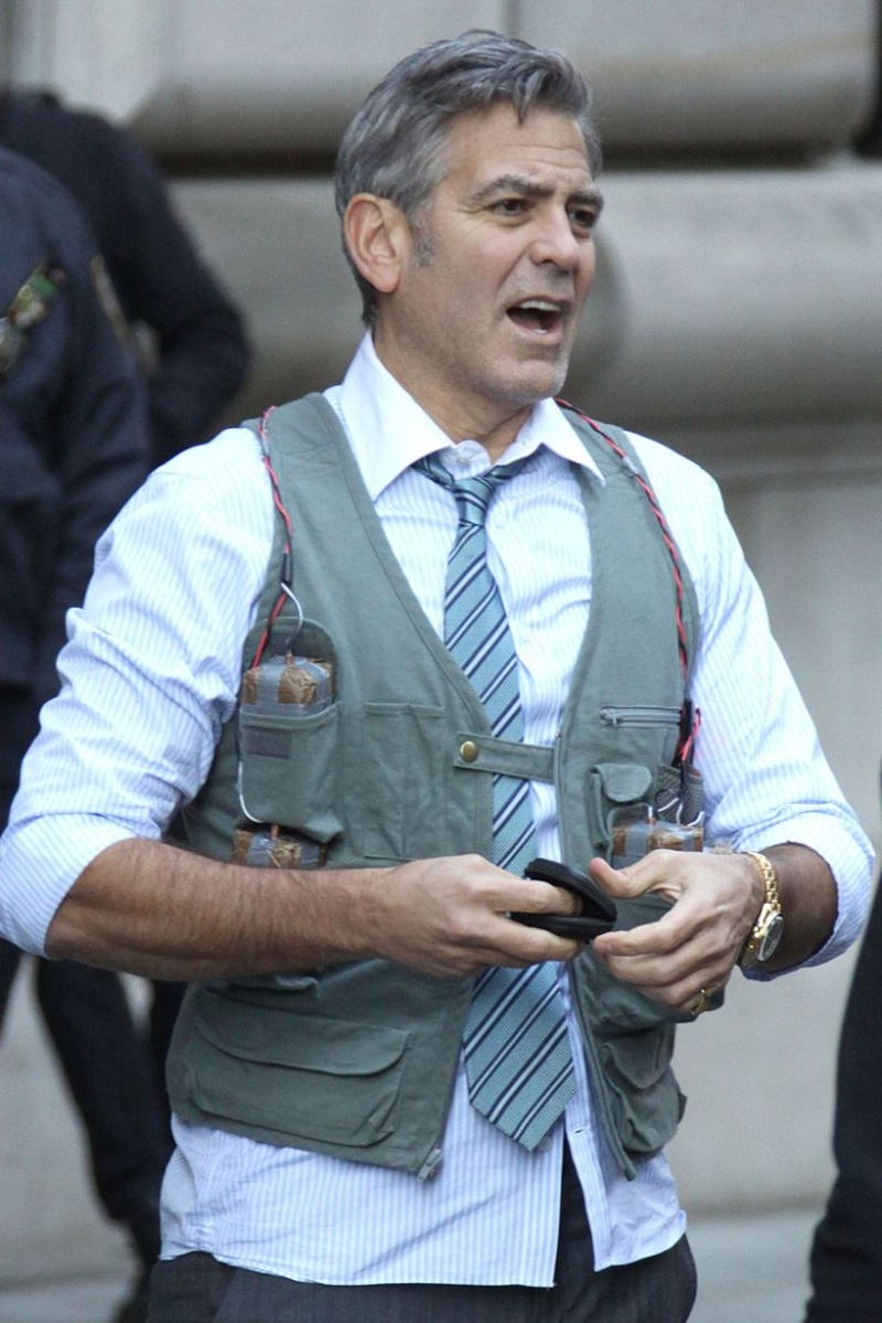 George Clooney on Money Monster Set April 10th & 11th  2015 Bo610