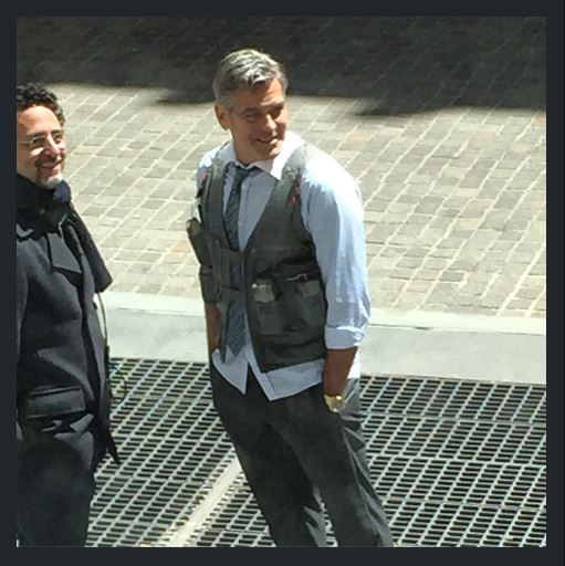 George Clooney on Money Monster Set April 10th & 11th  2015 Cc10