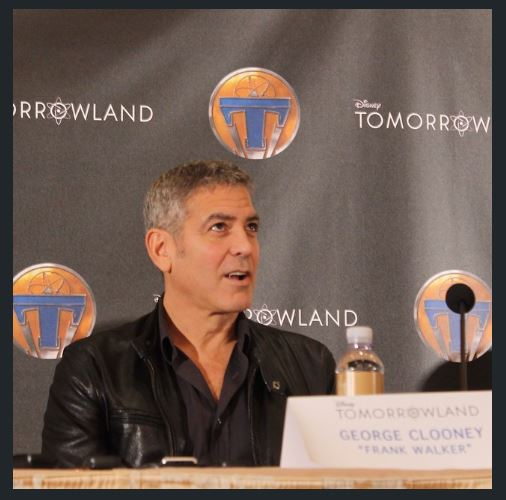 George Clooney at the press conference of TOMORROWLAND 8th May 2015 Ddd210