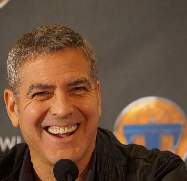 George Clooney at the press conference of TOMORROWLAND 8th May 2015 Ddd310