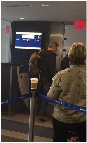 George Clooney on a flight to LA  Flight10