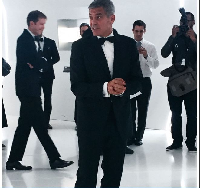 George Clooney  at Omega Event in Texas Ha210
