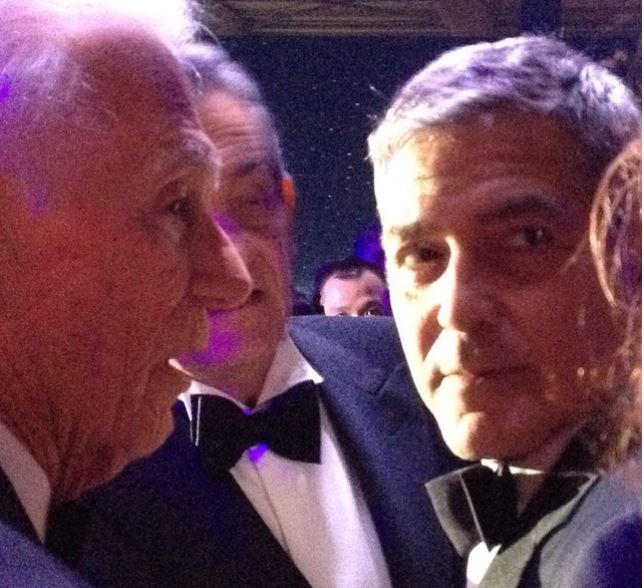 George Clooney  at Omega Event in Texas Ha410