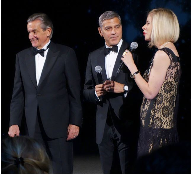 George Clooney  at Omega Event in Texas Ha610