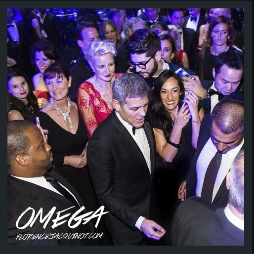 George Clooney  at Omega Event in Texas Hh11