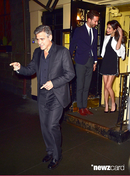 George Clooney and Amal having dinner in NY on 3 April 2015 Hh210