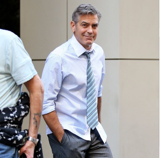 George Clooney on location: Money Monster NYC April 18, 2015 Ii210