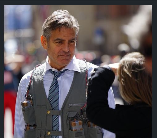 George Clooney on Money Monster Set April 10th & 11th  2015 Jj10