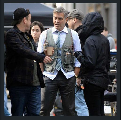 George Clooney on Money Monster Set April 10th & 11th  2015 Jj1110