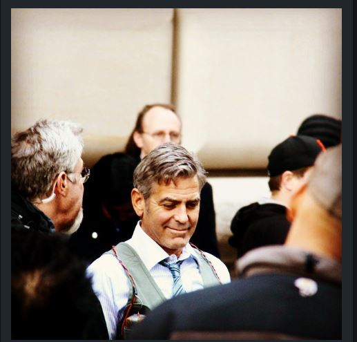 George Clooney on Money Monster Set April 10th & 11th  2015 Jj211