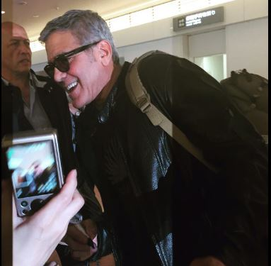 George Clooney arrived in Tokyo Japan May 24, 2015 Jj212