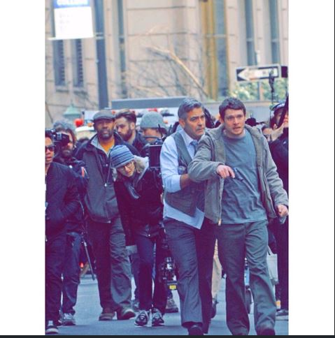 George Clooney on Money Monster Set April 10th & 11th  2015 Jj310