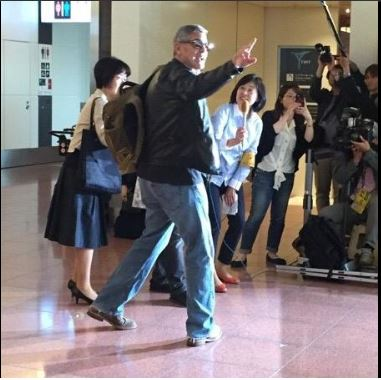 George Clooney arrived in Tokyo Japan May 24, 2015 Jj311
