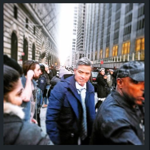 George Clooney on Money Monster Set April 10th & 11th  2015 Jj410