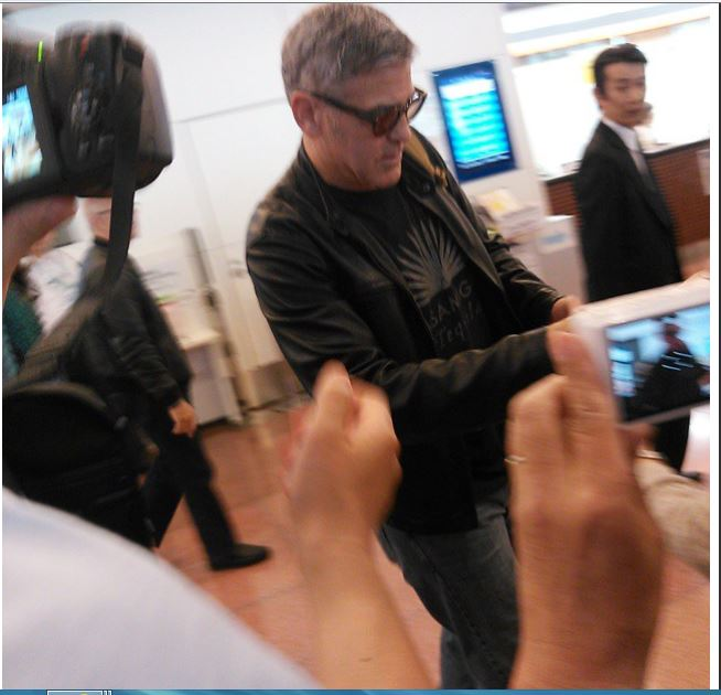 George Clooney arrived in Tokyo Japan May 24, 2015 Jj411