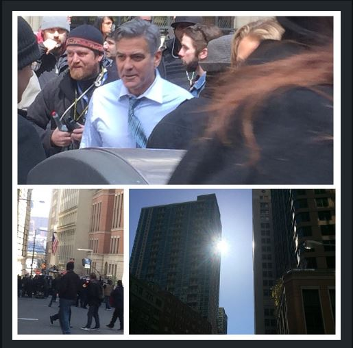 George Clooney on Money Monster Set April 10th & 11th  2015 Jj510