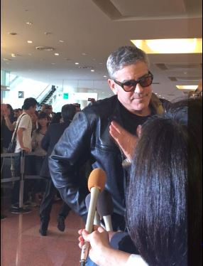 George Clooney arrived in Tokyo Japan May 24, 2015 Jj611